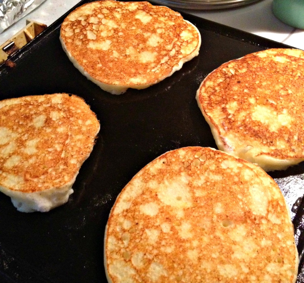 crispy lemon ricotta pancakes