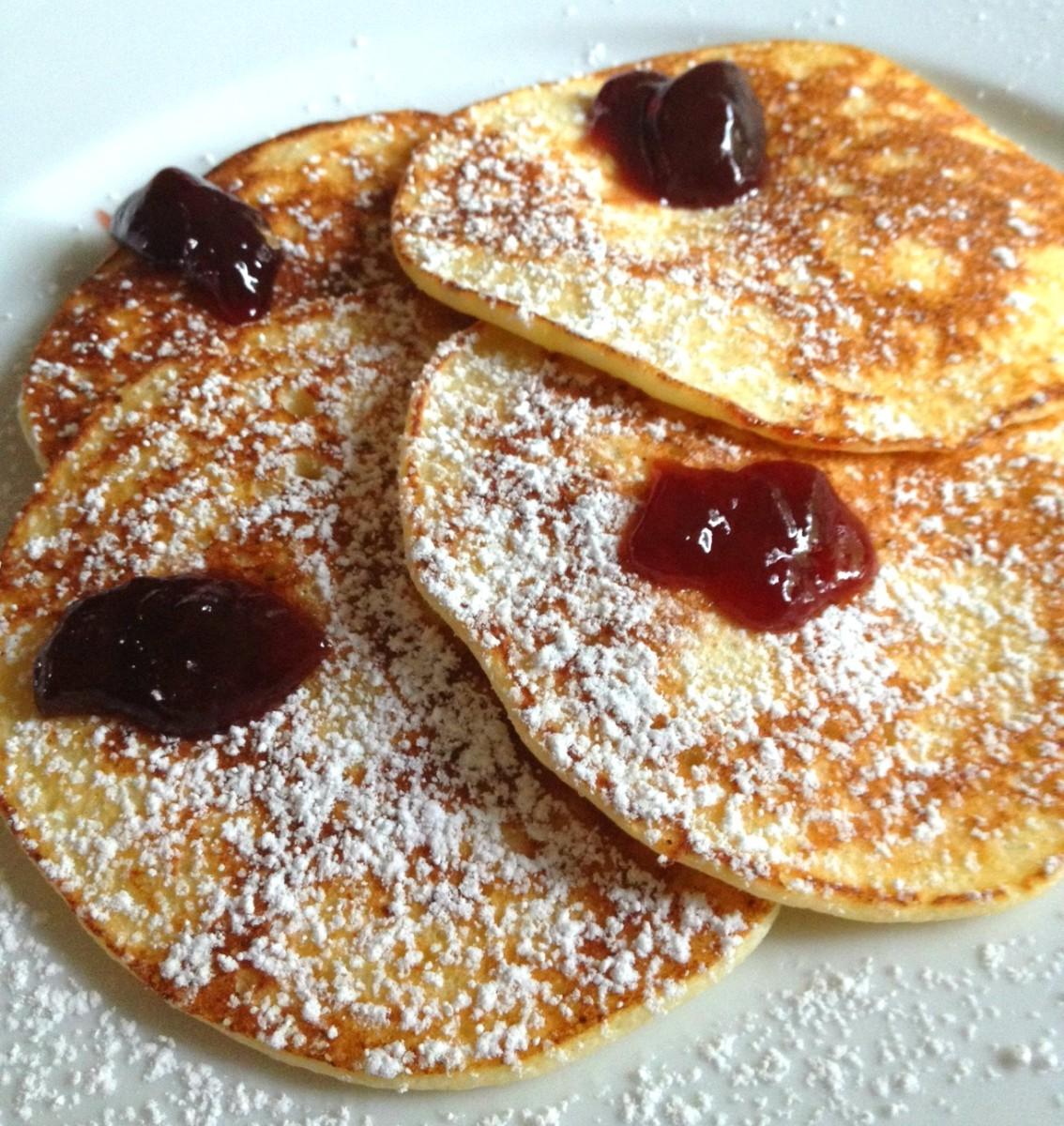 raspberry lemon ricotta pancakes