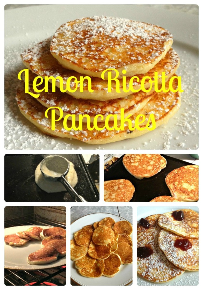 Making Best Lemon Ricotta Pancakes