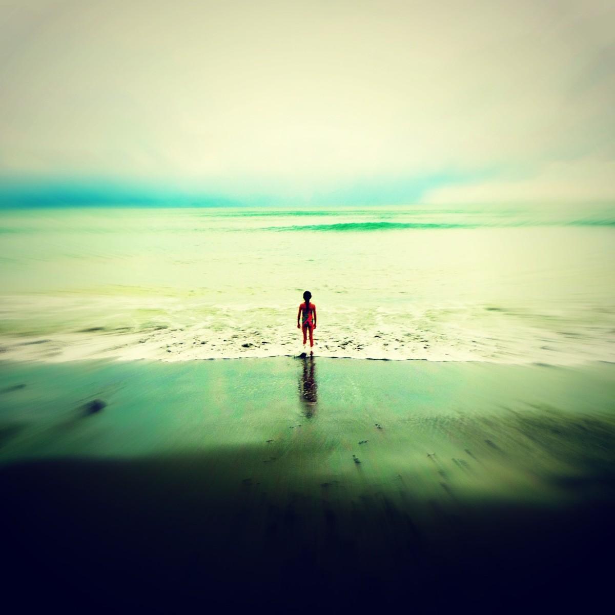 Little Girl Big Ocean Costa Rica