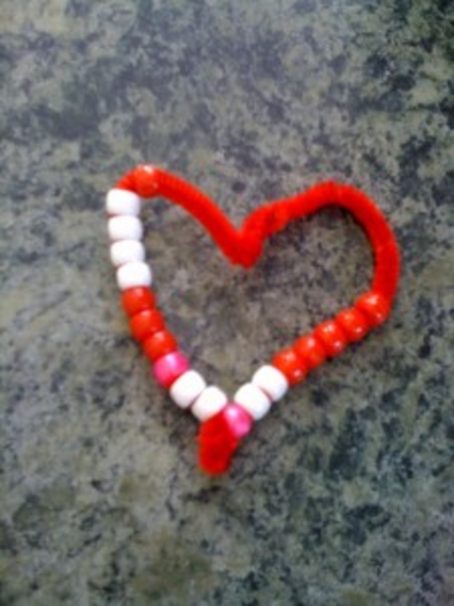 toddler valentine heart craft