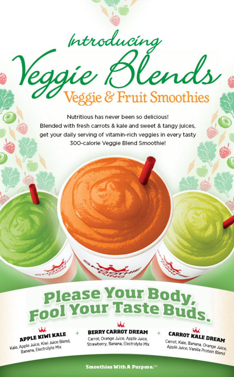 Smoothie King Veggie Blends Giveaways