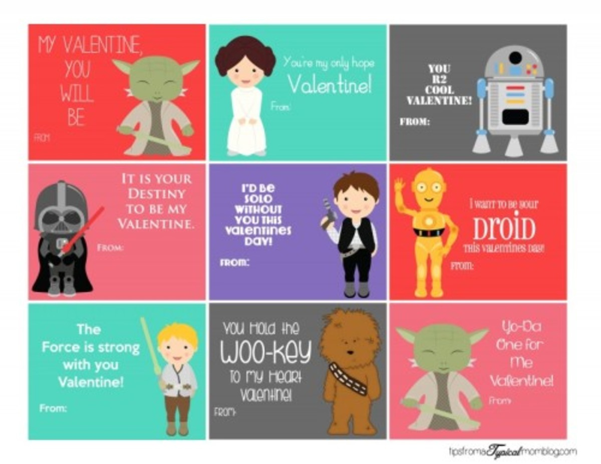 26 Valentine's Day Ideas For School - Star Wars Printable