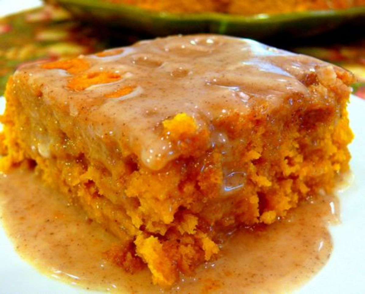 Our Favorite Fall Food Recipes Two Ingredient Pumpkin Cake with Cider Glaze