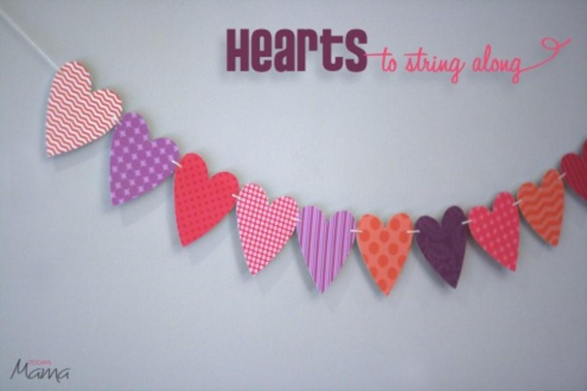 heart printable template_garland