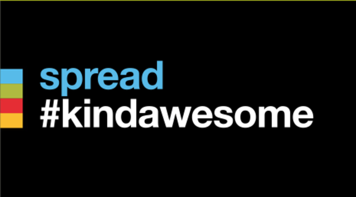 Spread #kindawesome!