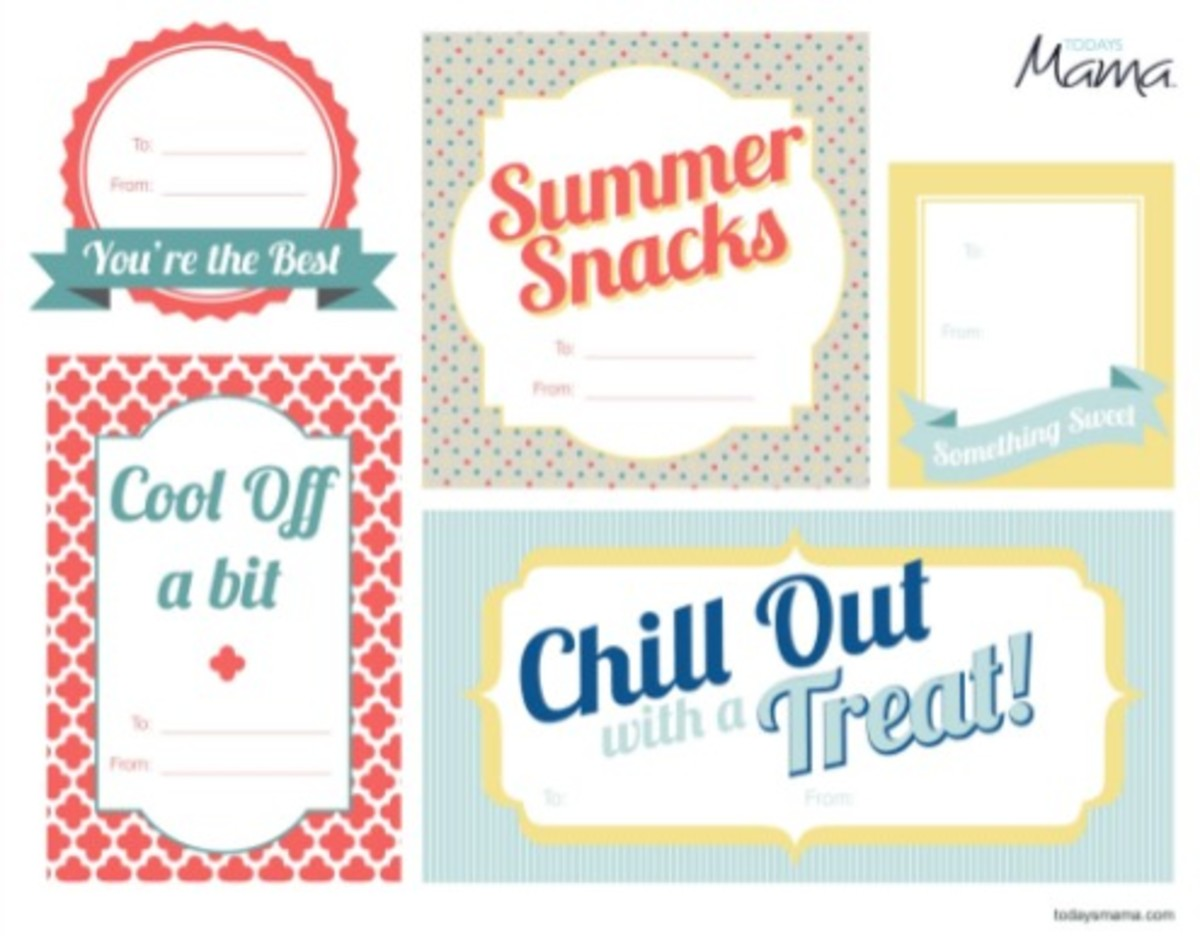 printable summer treat cards