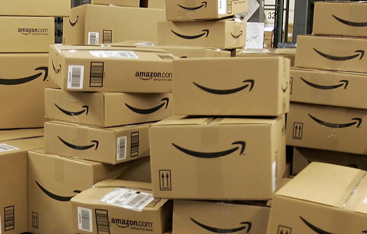 Stacks of Amazon Boxes