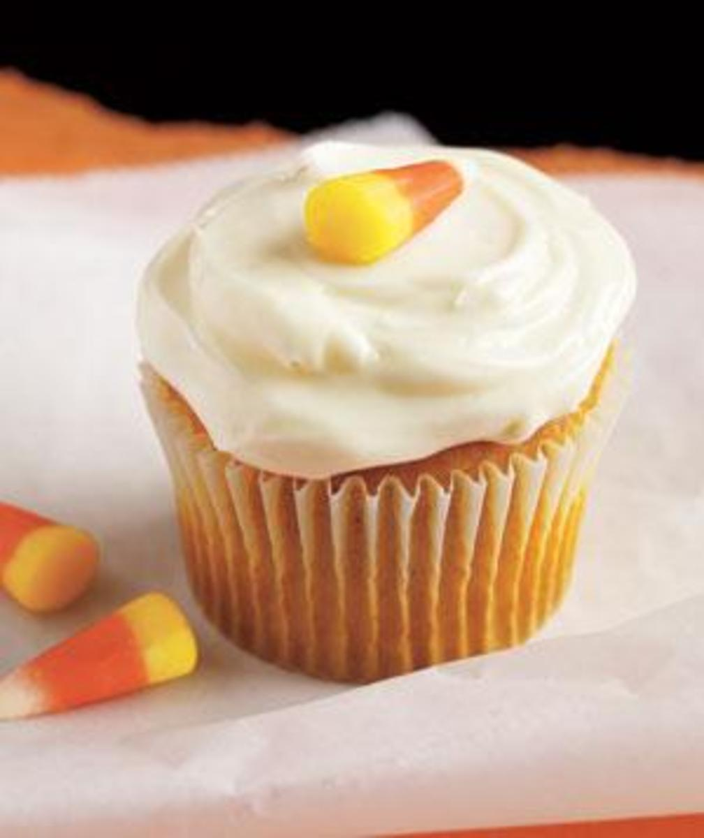 Our Favorite Fall Food Recipes Halloween-Pumpkin Cupcakes with Cream Cheese Frosting