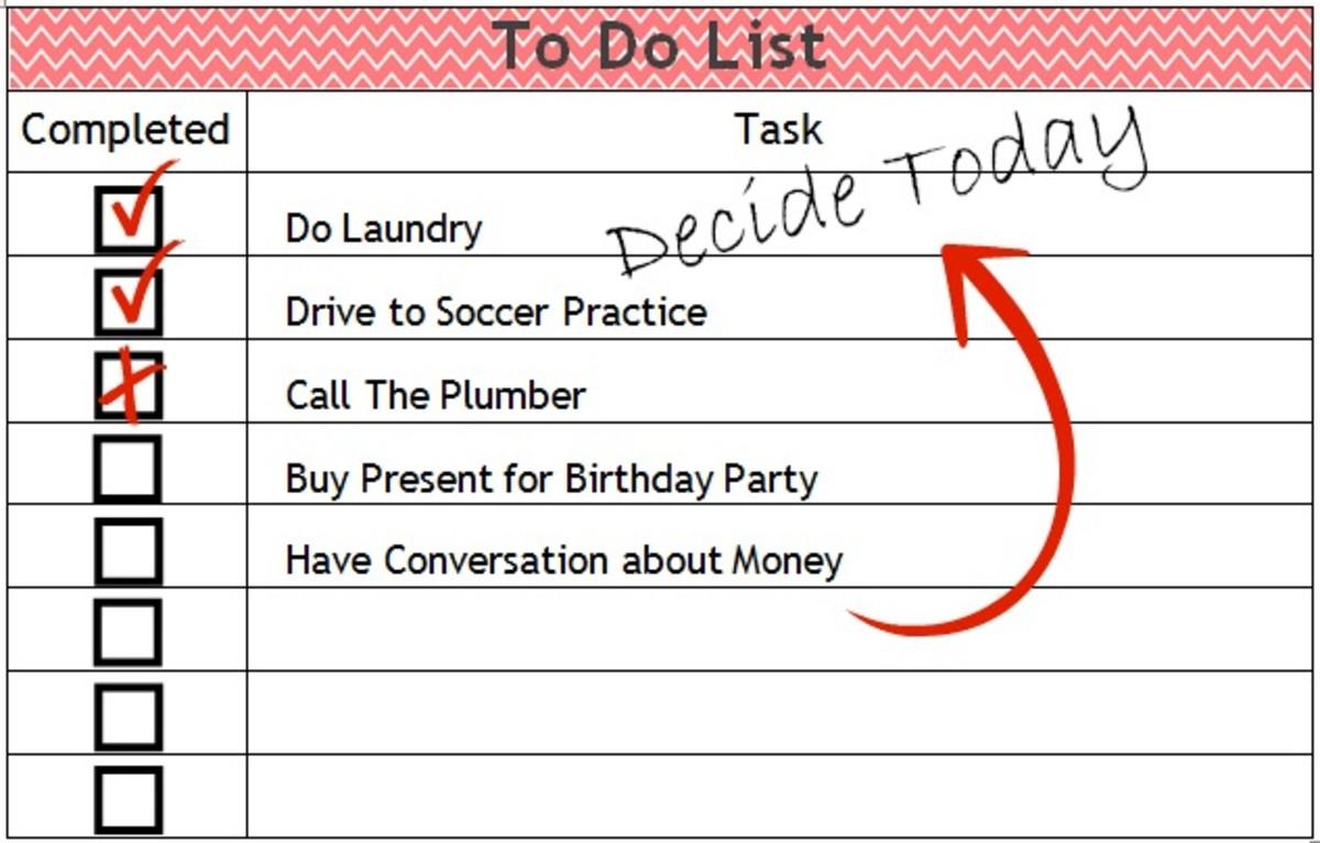 Decide Today To Do List