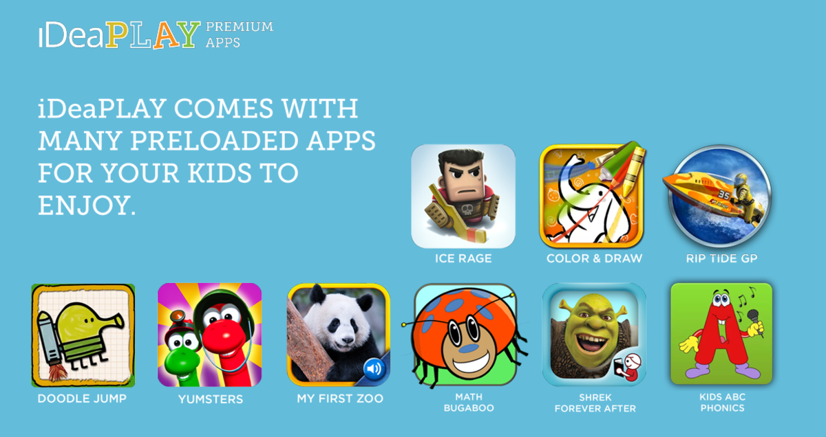 Pre-Loaded Apps on iDeaPLAY