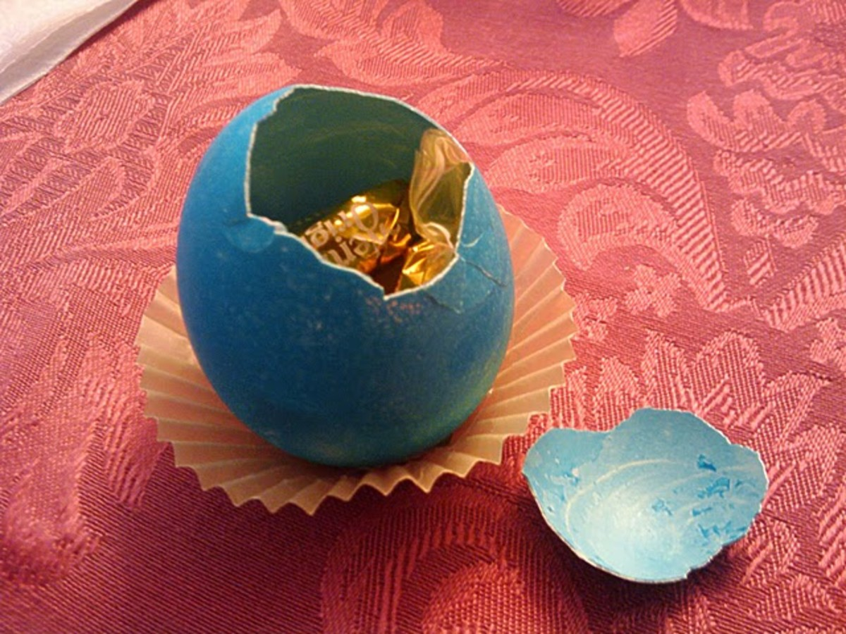 Candy filled real egg