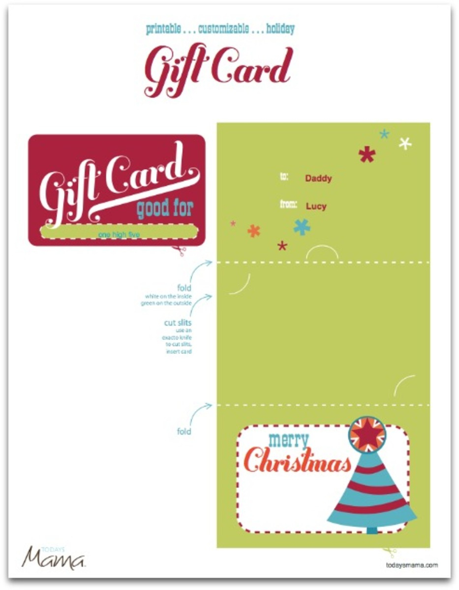 Printable Christmas Gift Certificate Template Today S Mama
