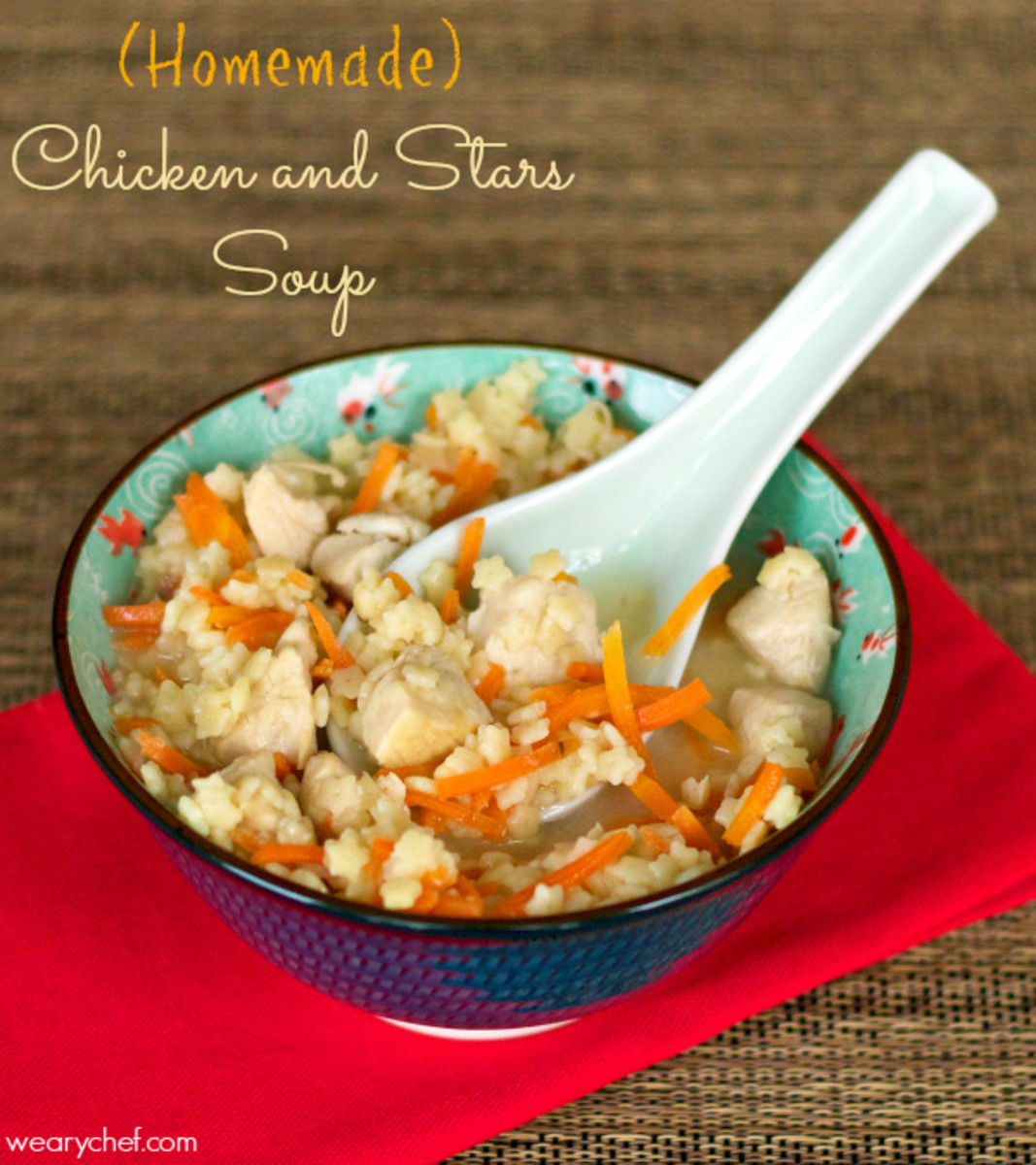 Chicken and Stars Soup | The Weary Chef