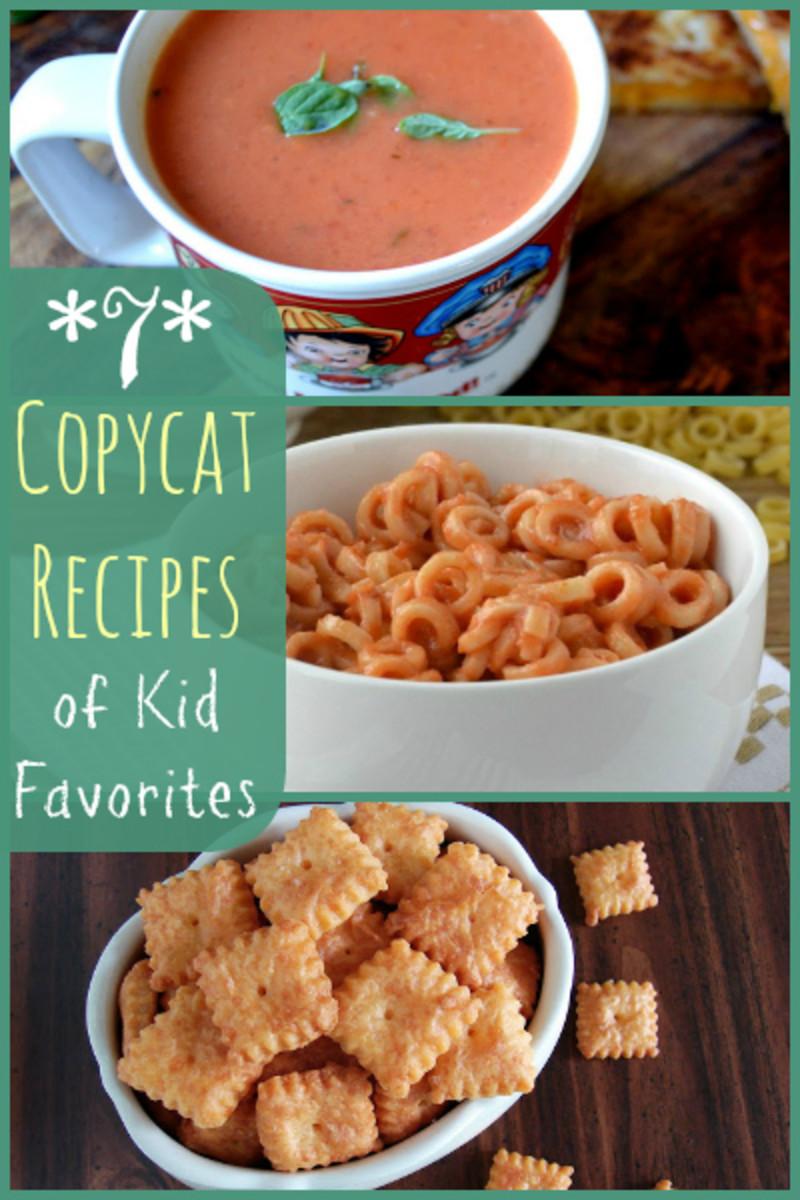 7 Copycat Recipes of Kid Favorites #copycatrecipes #kidfriendly