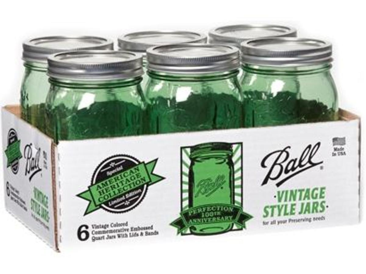 Case of Ball Green Perfection Jars - TodaysMama.com