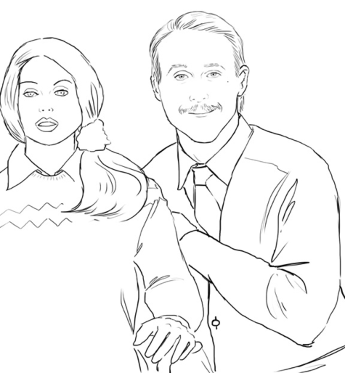 ryan gosling coloring book bad mustache