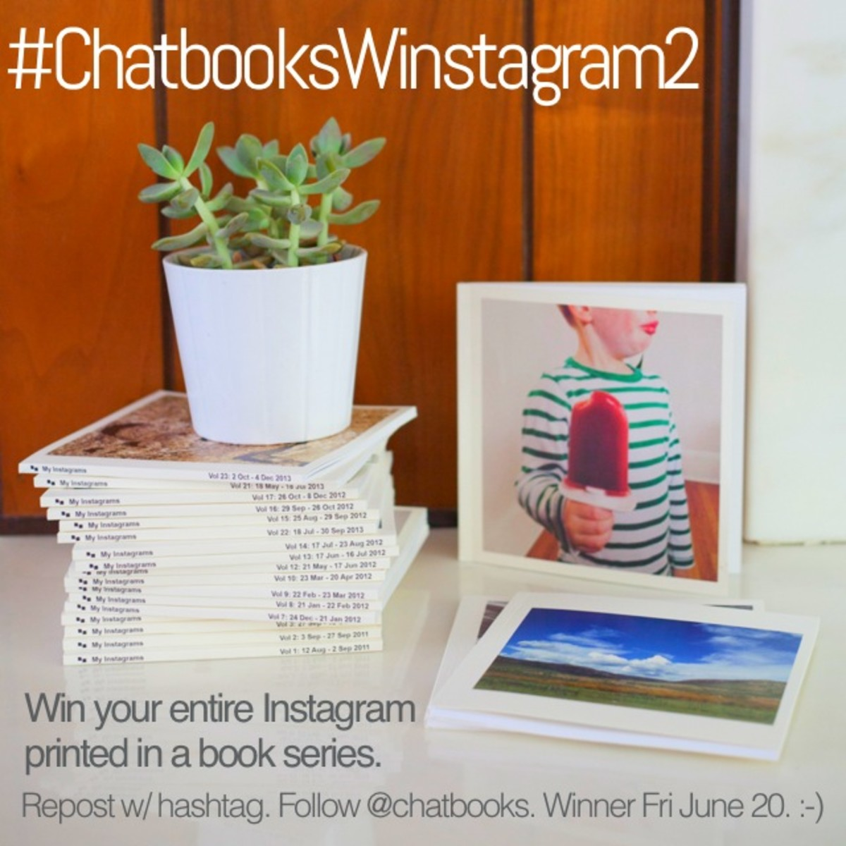 Win your Instagram photos in a book from Chat Books!