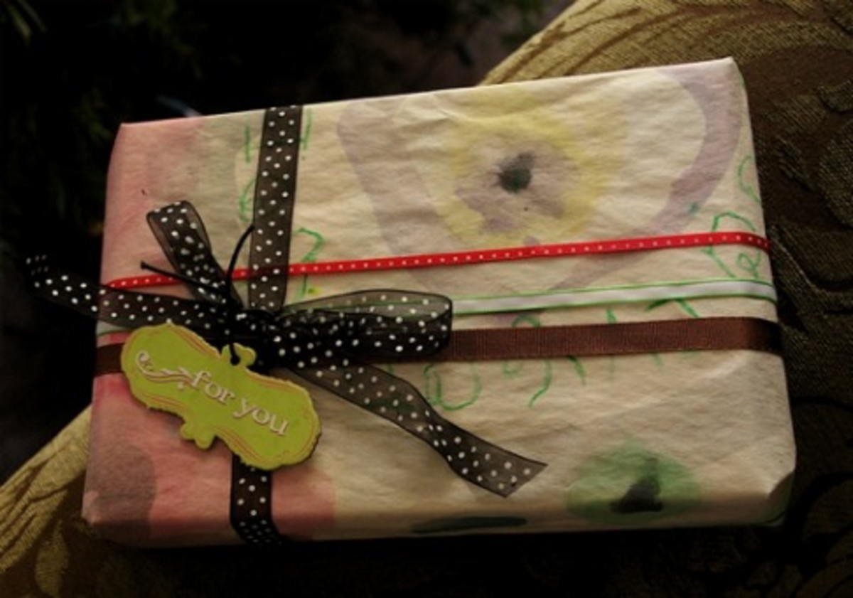 green christmas wrapping idea emily falconbridge