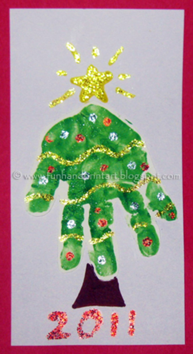 Image from Handprint and Footprint Arts & Crafts