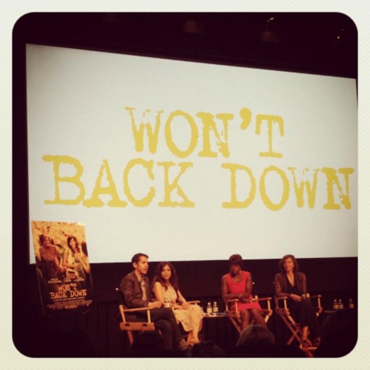 From L to R: Daniel Barnz, Rosie Perez, Viola Davis, and Maggie Gyllenhaal.