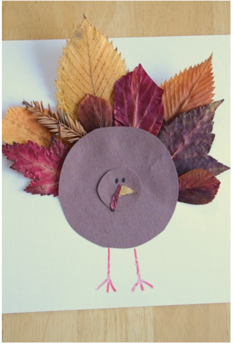 Paper-Turkey-Craft-with-Leaves1