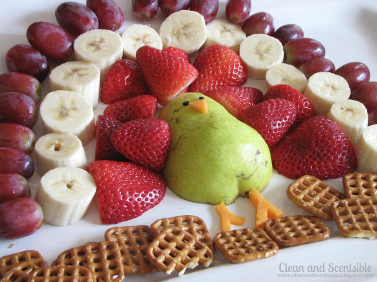 fruit turkey fondue platter
