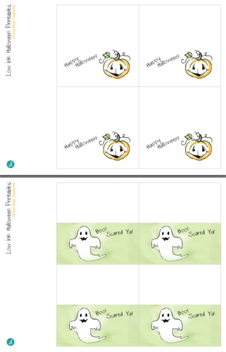 Printable Halloween Party Treat Bag Labels