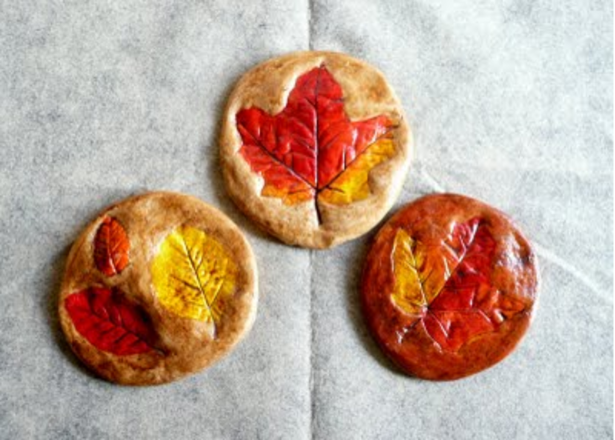 salt-dough-leaf-prints