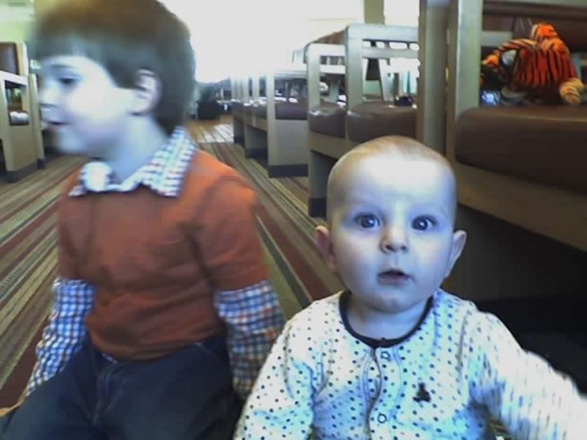 My boys years ago in the Albuquerque Airport