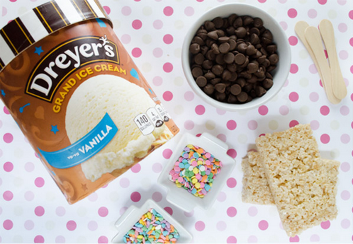 Krispie Ice Cream Sandwiches