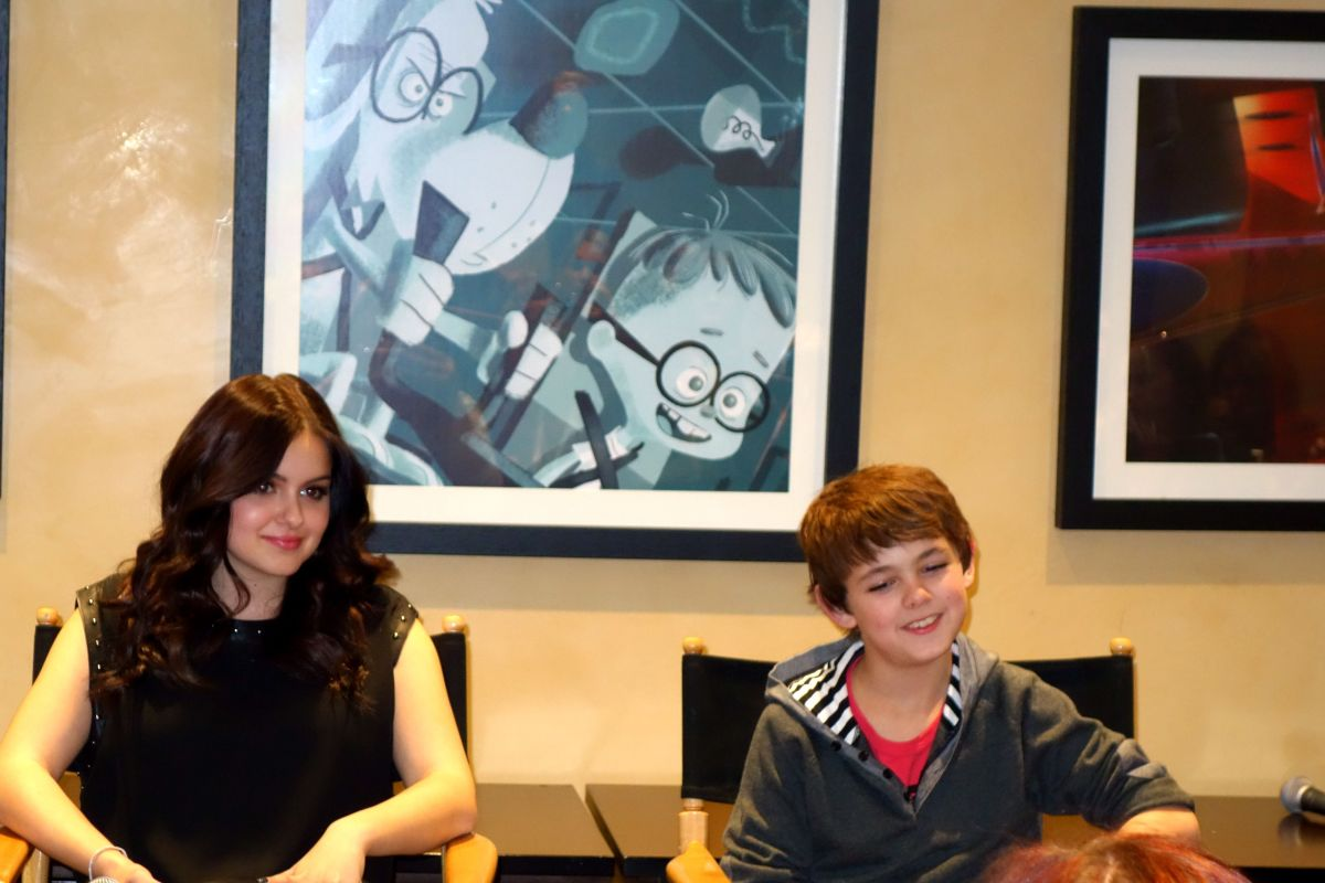 Ariel Winter (Penny) and Max Charles (Sherman) of Mr. Peabody and Sherman