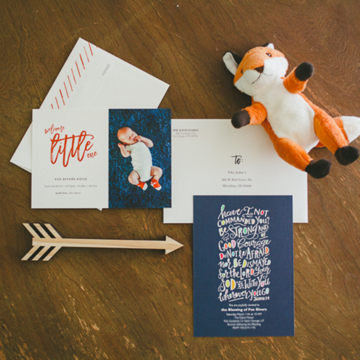 Minted Baby Announcements and Blessing Christening Invitations-1