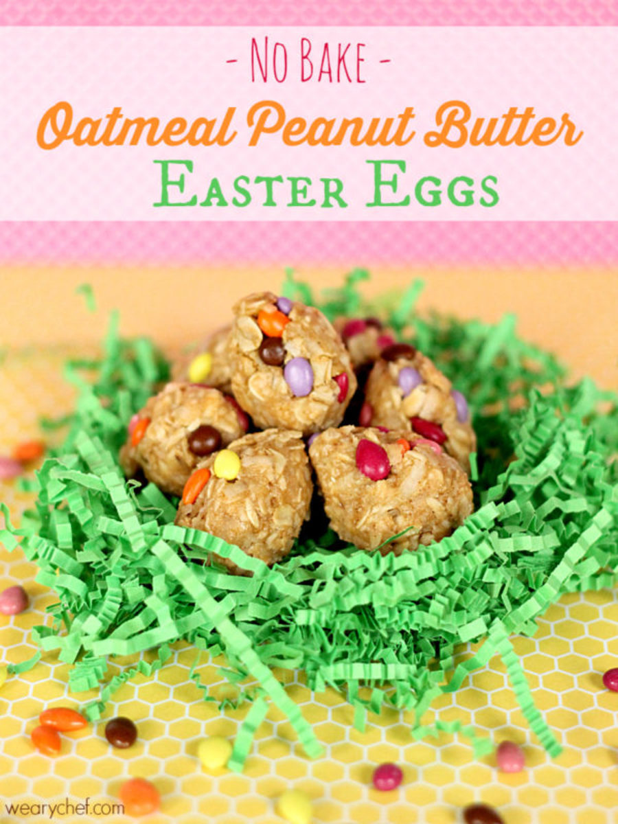 No Bake Oatmeal Peanut Butter Easter Eggs | The Weary Chef