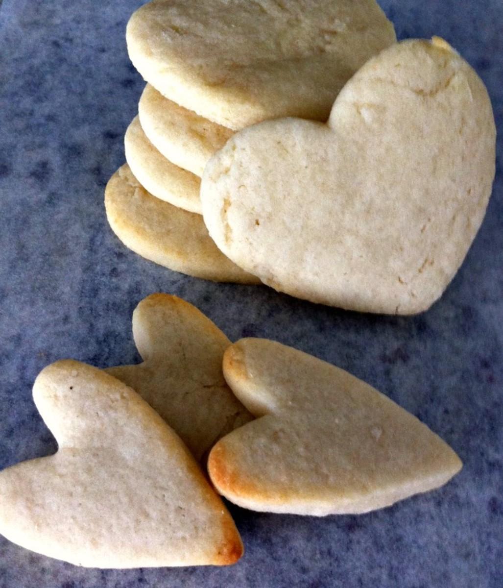 Basic Sugar Cookie Hearts