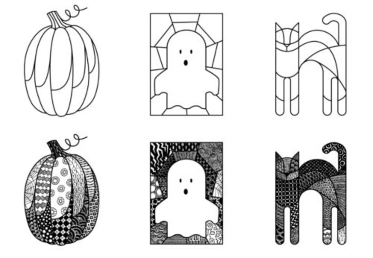 Zendoodle Halloween Coloring Pages