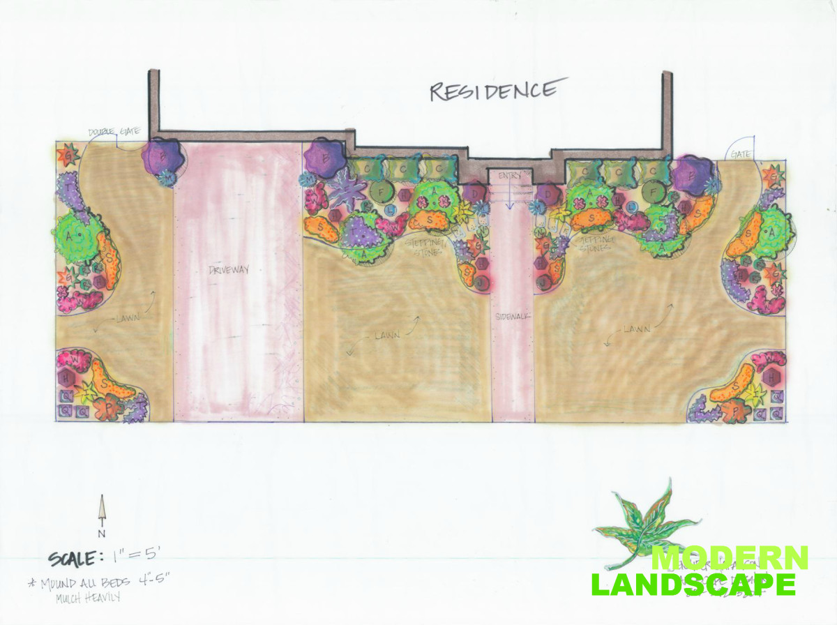 small landscape design plans for tm