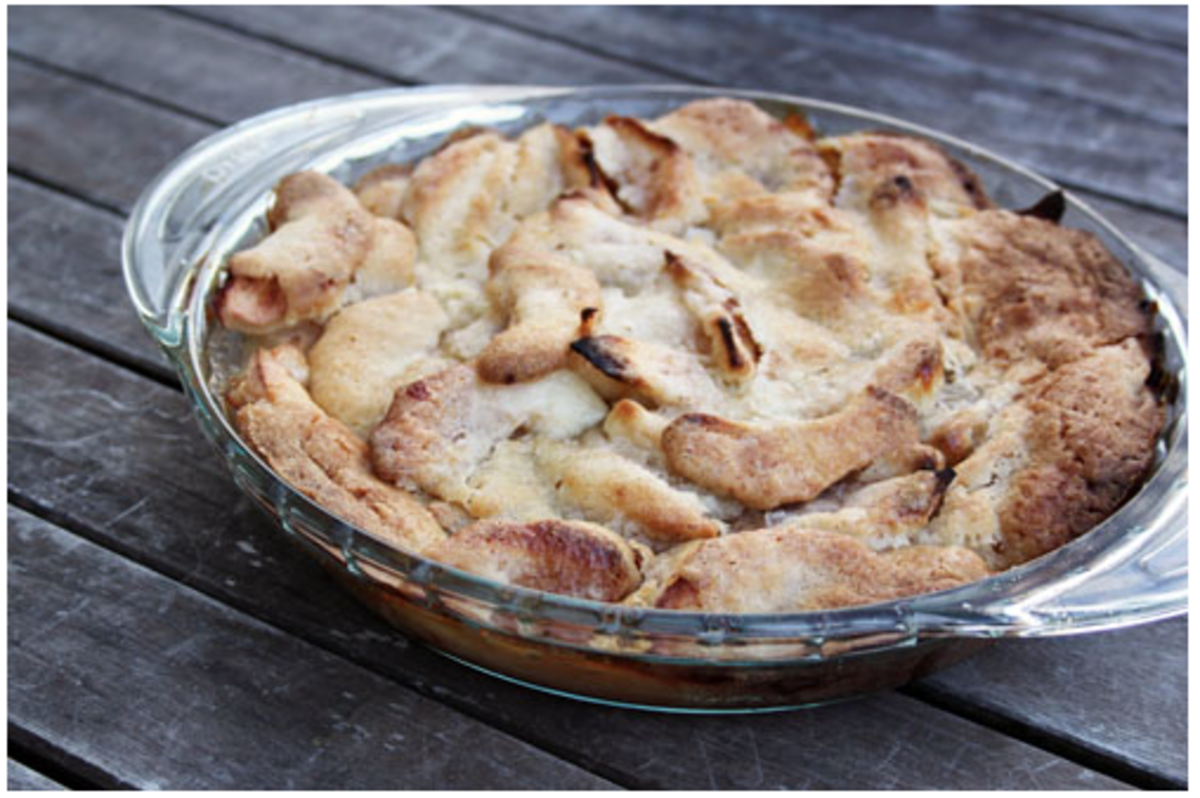 no bake pie crust Swedish Apple Pie recipe