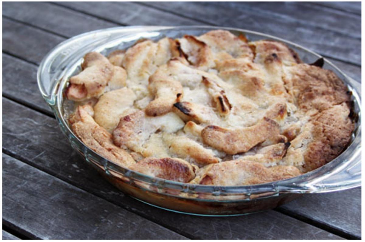 no bake pie crust Swedish Apple Pie recipe