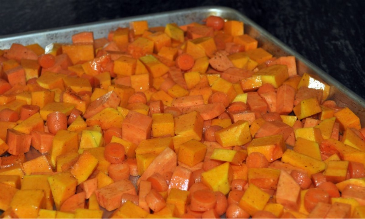 Roast veggies in a pan in a single layer