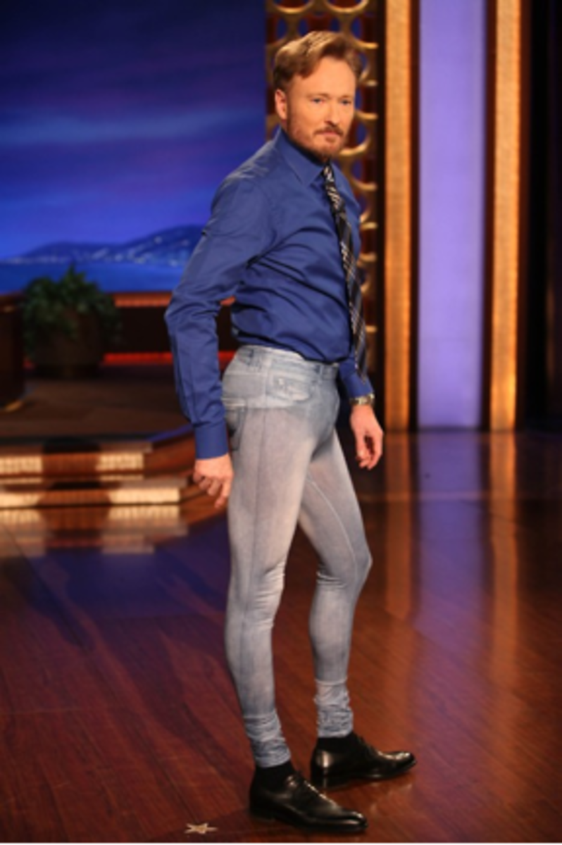 Conan O'Brian Wearing Jeggings