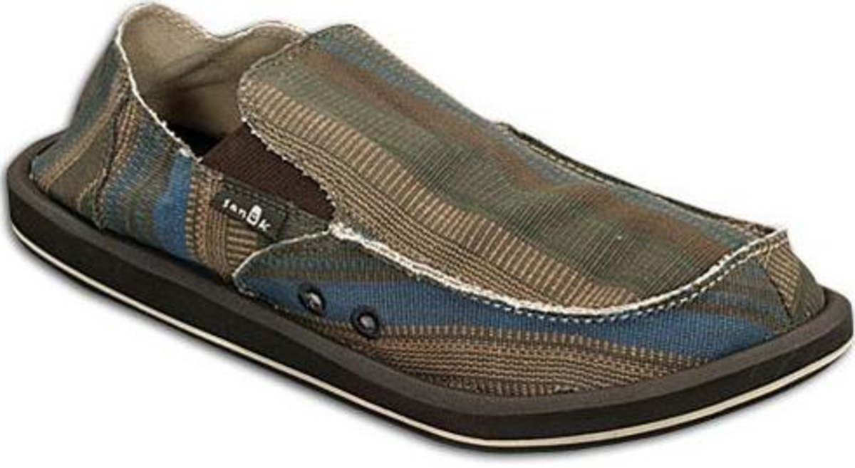 Brown and blue Sanuk for boys