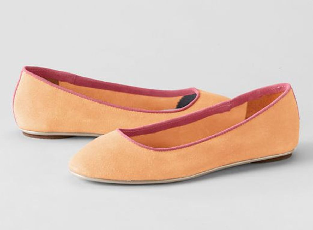 lila piped ballet flats