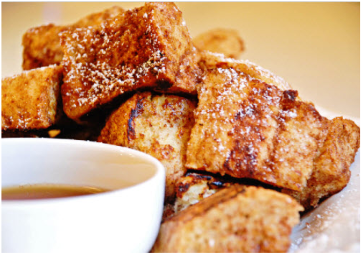 French Toast Bites with Cinnamon Sugar