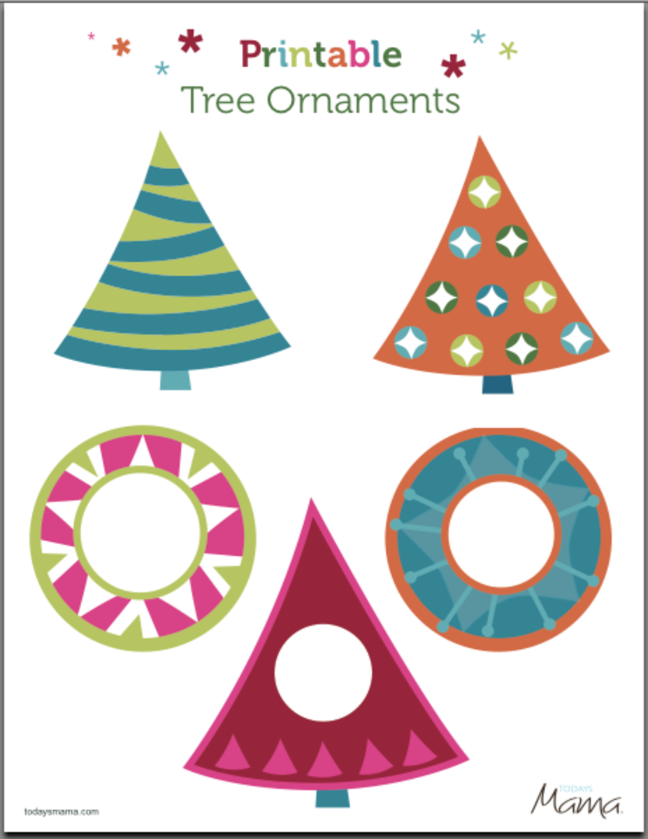 picture relating to Printable Ornaments named Free of charge Printable Ornaments - Todays Mama