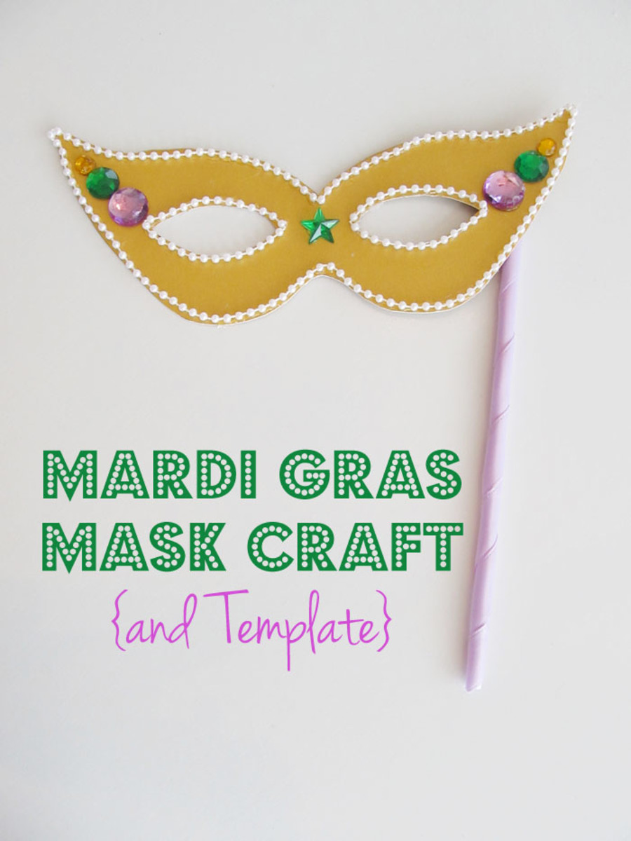 Mardi Gras Mask Making Tutorial on CraftJr.com