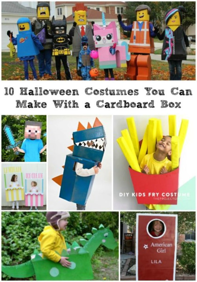 10 Halloween Costumes You Can Make With a Cardboard Box