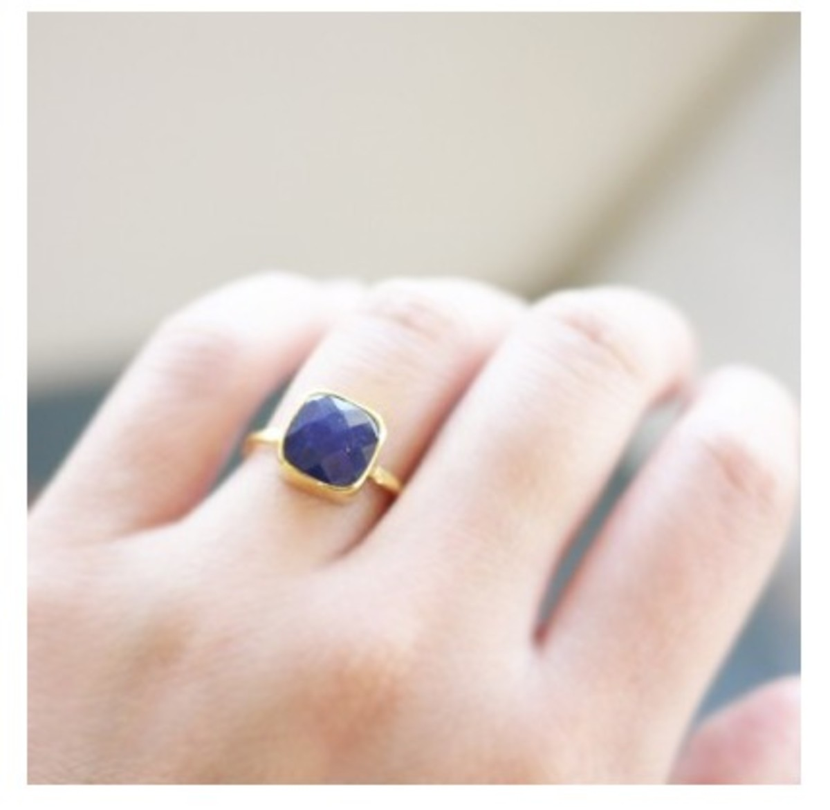 Square Sapphire Ring from Prismera