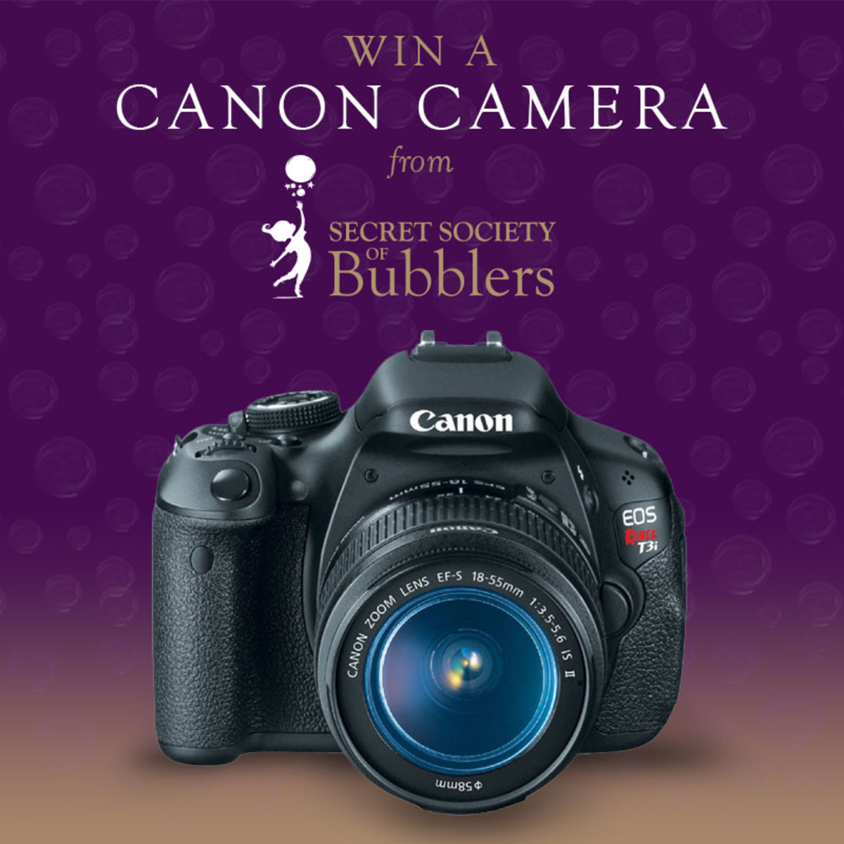 Win a Canon Camera from SecretBubblers.com