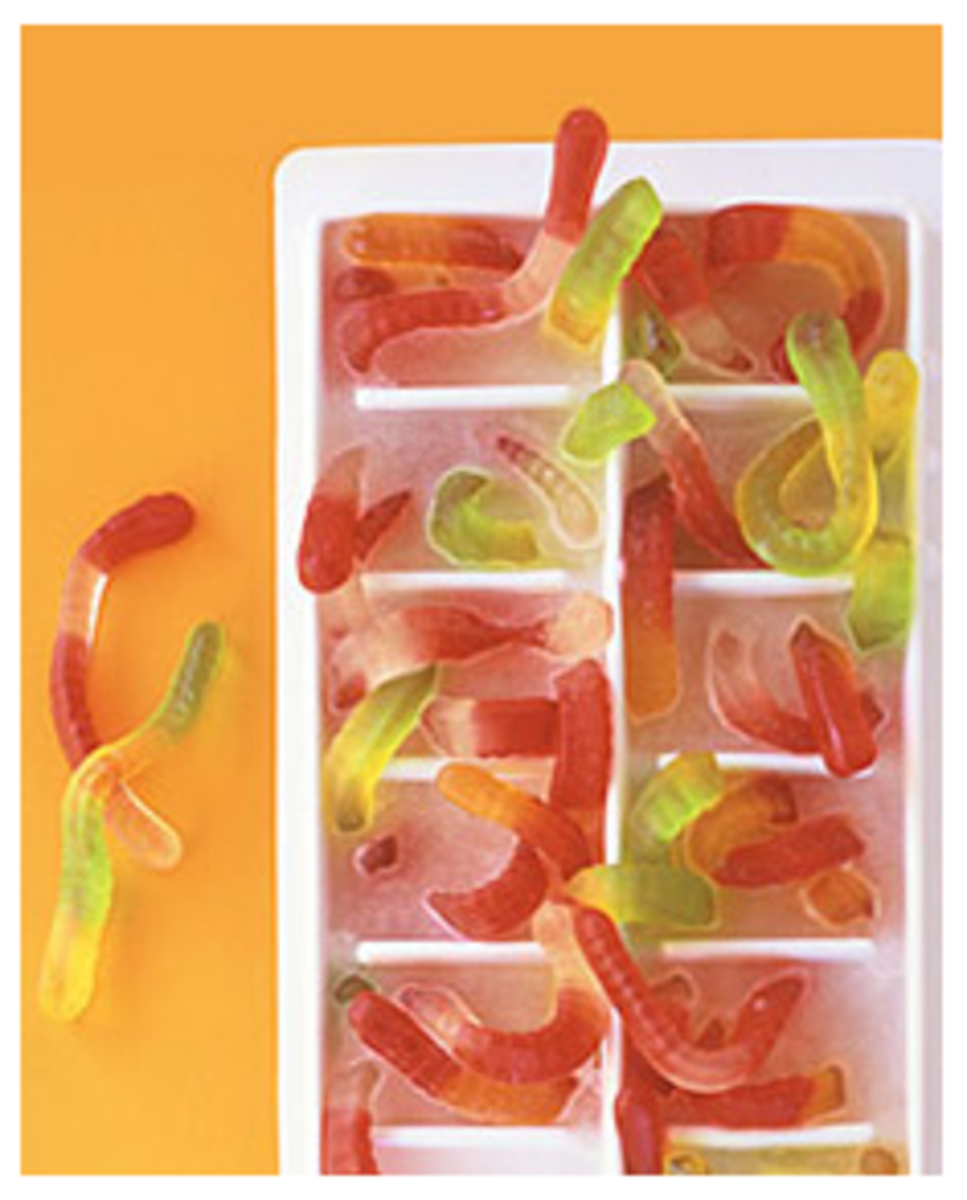 Gummy Worm Ice Cubes